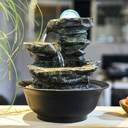 110V-220V Zen Style Rockery Mini <font><b>Water</b></font> <