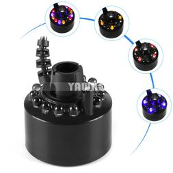 12 Leds Colorful Mister Maker Fogger Water Fountain Pond Fog