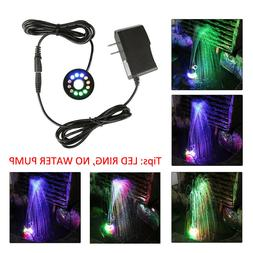 12 LEDs Fountain Ring Lights Auto Colored Changing for Subme