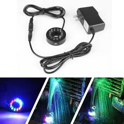 12 LEDs Fountain Ring Lights Auto Colored Changing Water Pum
