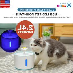 2.4L USB LED Automatic Electric Pet Water Fountain Cat/Dog D