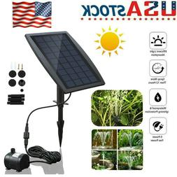 200L/H Solar Power Panel Kit Fountain Pool Pond Garden Subme