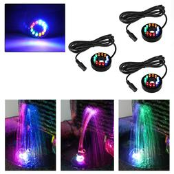 3 pcs fountain ring lights auto colored