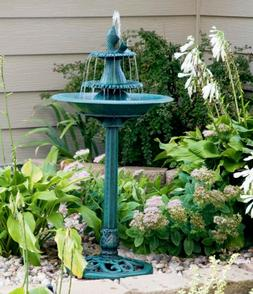 3 Tier Outdoor Water Fountain Bird Bath Garden Patio Yard De