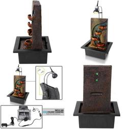 4-Tier Desktop Electric Water Fountain Decor Illuminated W/