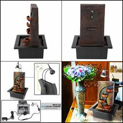 SereneLife 4-Tier Desktop Electric Water Fountain Decor Illu