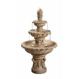 Kenroy Home 51010SNDST Ibiza Outdoor Tiered Fountain with Li