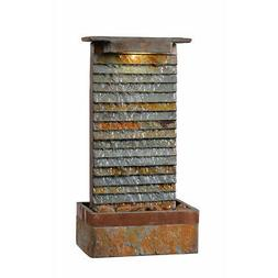 Kenroy Home 51023SLCOP Stave Indoor/Outdoor Table Fountain w