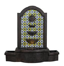 Kenroy Home 51036BRZ Daybreak Floor Fountain with Light and