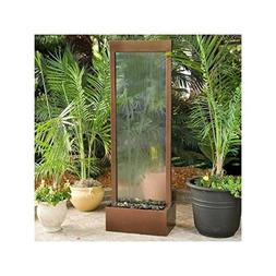 BluWorld Petite 4' Dark Copper Gardenfall with Bamboo Etched