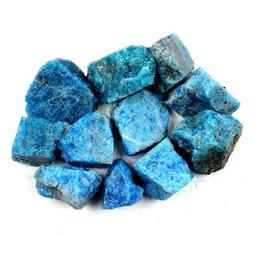 Crystal Allies Materials: 1lb Bulk Rough Blue Apatite Stones