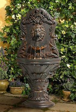 "Imperial Lion Acanthus 50"" High Fountain with Light"