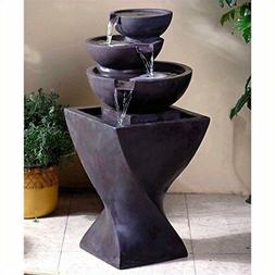 Jeco Inc. Modern Tier Bowls Indoor Water Fountain