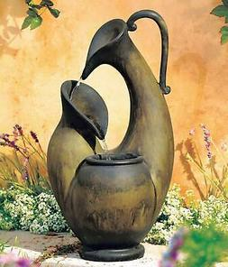 """Weathered Jug 24"""" High Tabletop Fountain"""