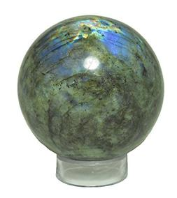 XL LABRADORITE SPHERE 3 to 3.5 INCH SIZE  Crystal Orb Ball H