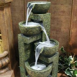 "Alpine 24"" Indoor Outdoor Cascading Stone Water Fountain, Pa"