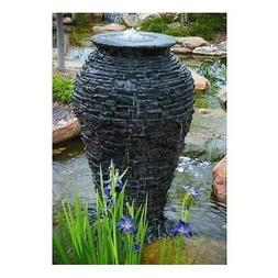 Aquascape Stacked Slate Urn Fountain Water Stone Rock Garden
