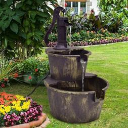 Zen Garden Water Fountain Pump Outdoor Indoor Porch Patio Ca