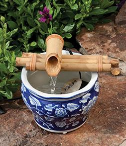 Bamboo Fountain with Pump Sman 7 Inch Three Arm Style, Indoo