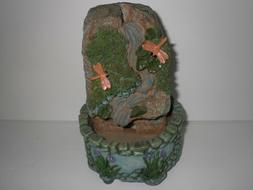 Beautiful Dragon Fly Water Fountain Statue Figurine Home Dec