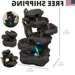 Best Choice Products Home Indoor 6-Tier Tabletop Fountain Wa