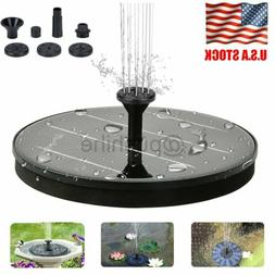 Bird Bath Fountain Solar Powered Water Pump Floating Outdoor