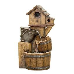 Jeco Inc. Bird House Outdoor Water Fountain Without Light