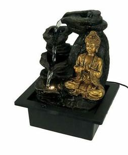Fantasy Gifts Buddha Greeting and Teaching LED Lighted Table