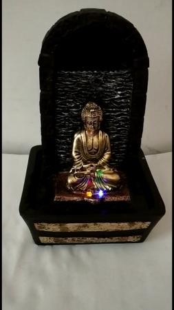 Buddha Indoor Tabletop Water Fountain Water Color Changing L