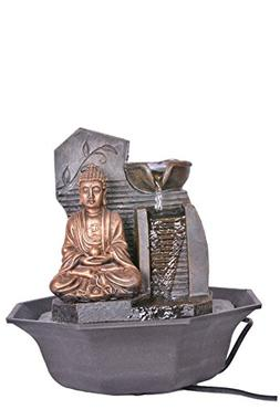 Khussa Buddha Water Indoor Fountain with led Light KHFO-28