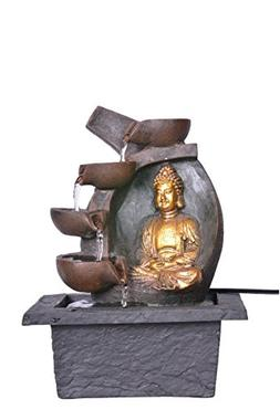Khussa Buddha Water Indoor Fountain with led Light KHFO-31