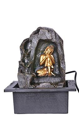 Khussa Buddha Water Indoor Fountain with led Light KHFO-34