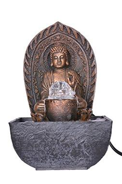 Khussa Buddha Water Indoor Fountain with led Light KHFO-1