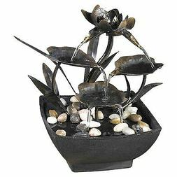 Jeco Inc. Cadono Metal Leaves Tabletop Fountain