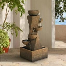 cascading bowls water fountain