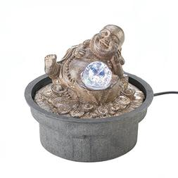 Cascading Fountains Happy Buddha Tabletop Water Fountain