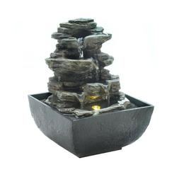Cascading Rocks Tabletop Fountain Home Decor Accents Tiered