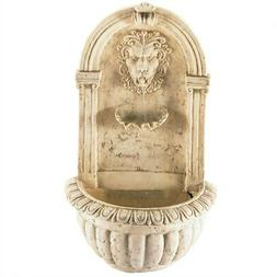 Cascading Water Wall Fountain Regal Lions Head Stone-Look  H
