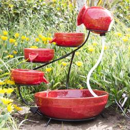 ceramic solar water fountain garden