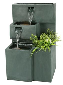 "CLOSEOUT-Originally $289- OUTDOOR 31""high  Water Fountain wi"