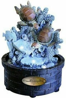 Newport Coast Collection DIVING TURTLES LED Water Fountain N