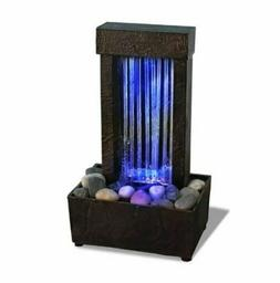 Color Changing Water Fountain LED Lights Rocks Waterfall Tab