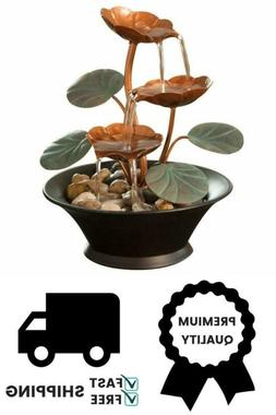 Compact Indoor Water Lily Water Fountain - Tabletop Decorati