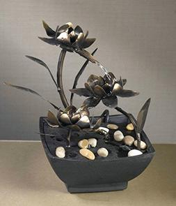 "CC Home Furnishings 9"" Contemporary Multi-Tiered Asian Flowe"
