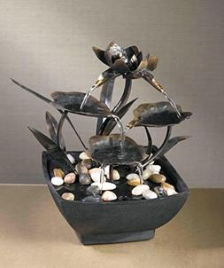 "CC Home Furnishings 9"" Contemporary Multi-Tiered Asian Leaf"