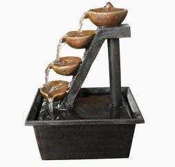 Alpine Corp 8-in H Resin Tabletop Fountain Outdoor Fountain