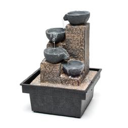 Decor Desk Mini Water Basket Fountain - Water Fountain by Re