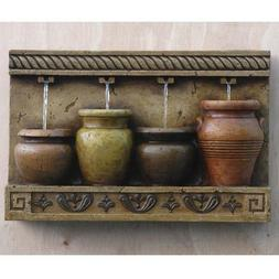 Decorative Water Fountain Outdoor Wall Feature Hanging Elect