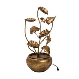 Glitzhome Electric Lotus Leaves Water Fountain Indoor Outdoo