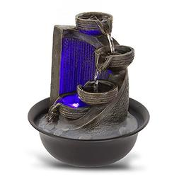 Electric Meditation Water Fountain Decor - 4-Tier Cool Porta